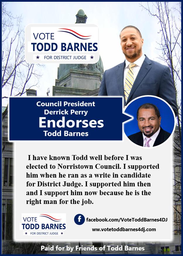 council president endorses Todd Barnes