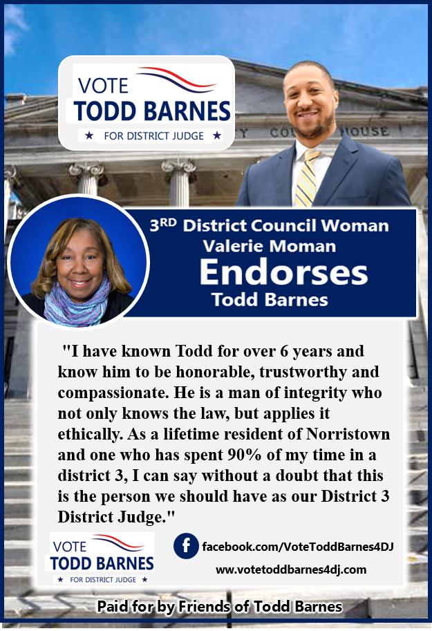 endorsement for Todd Barnes